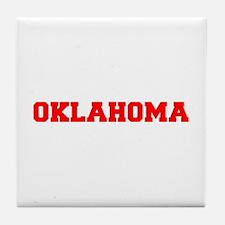 OKLAHOMA-Fre red 600 Tile Coaster