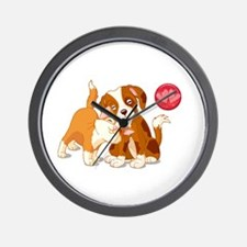 Cat and Dog Pals Wall Clock