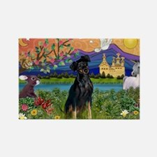 Fantasy Land & Min. Pinscher Rectangle Magnet