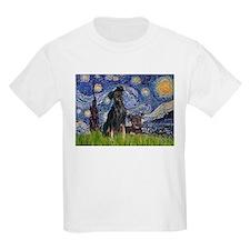 Starry Night & Miniature Pinscher T-Shirt