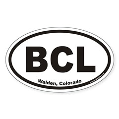Big Creek Lake BCL Euro Oval Decal