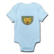 Puma Mountain Lion Head Shield Woodcut Body Suit