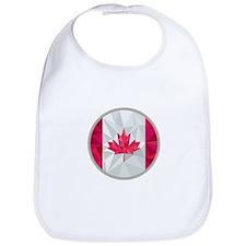 Canada Flag Icon Circle Low Polygon Bib