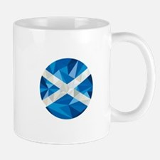 Scotland Flag Icon Circle Low Polygon Mugs