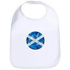 Scotland Flag Icon Circle Low Polygon Bib