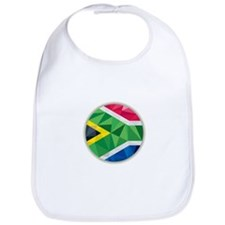 South Africa Flag Icon Circle Low Polygon Bib