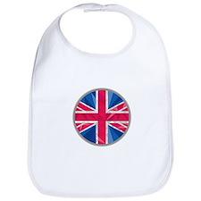 Union Jack UK Flag Circle Low Polygon Bib