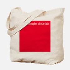 Thoughts about Red Tote Bag