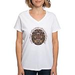 Gaelic Halloween Shield Women's V-Neck T-Shirt