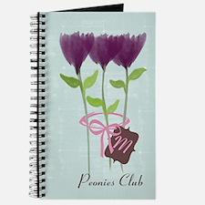 Watercolor Peony Gardener Journal