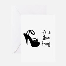 Shoe Thin Greeting Cards