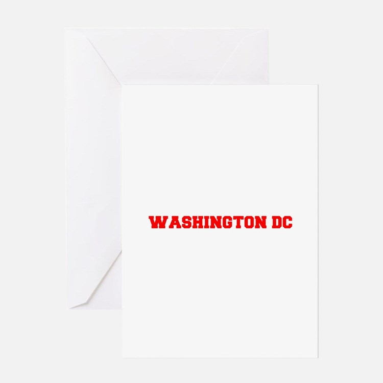WASHINGTON DC-Fre red 600 Greeting Cards