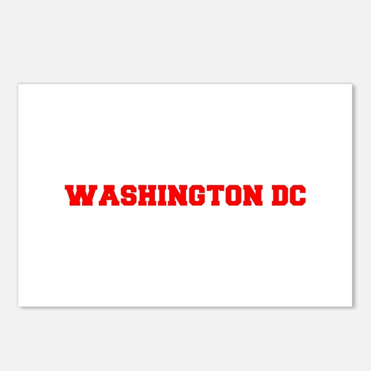 WASHINGTON DC-Fre red 600 Postcards (Package of 8)