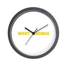 WEST VIRGINIA-Fre gold 600 Wall Clock