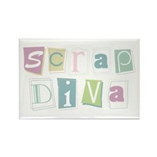Scrap Diva Rectangle Magnet