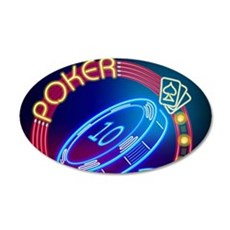 Neon Poker Sign Wall Decal