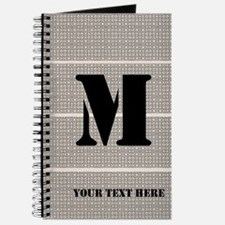 Cool Monogrammed Journal