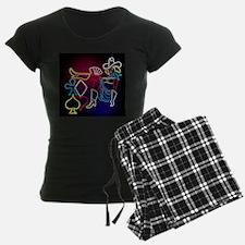 Neon Poker Girl Pajamas