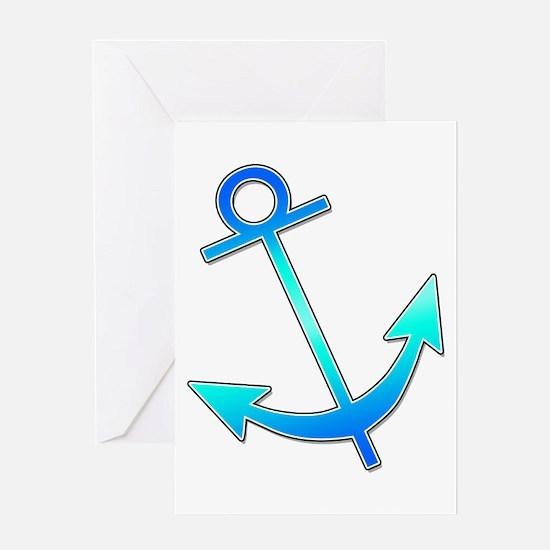 Blue Anchor Greeting Card