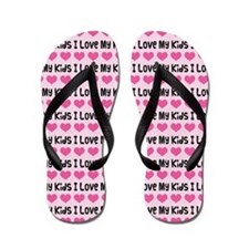 Mom I Love My Kids Flip Flops