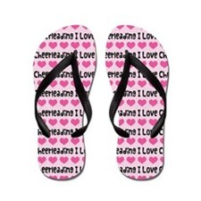 I Love Cheerleading Flip Flops