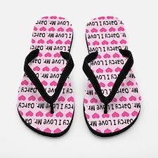 I Love Mr. Darcy Flip Flops