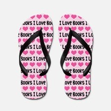 I Love Books Flip Flops