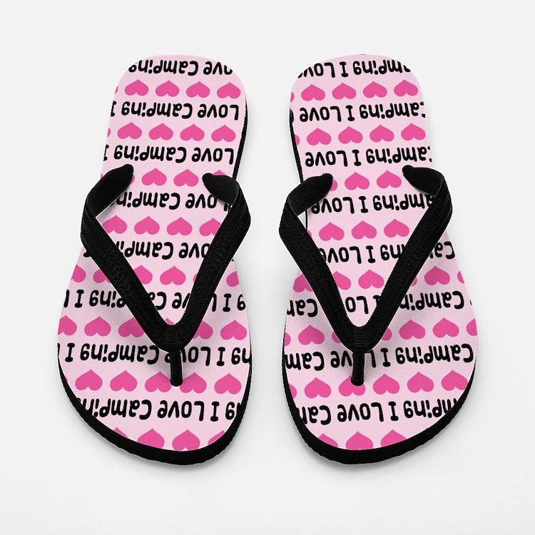 I Love Camping Flip Flops