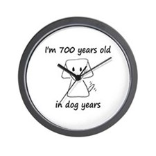 100 dog years 6 - 2 Wall Clock