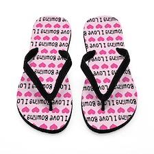 I Love Bowling Flip Flops