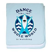 Left Shark MVP Dancing baby blanket