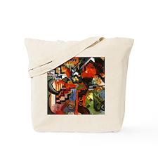 Macke - Colored Composition Tote Bag
