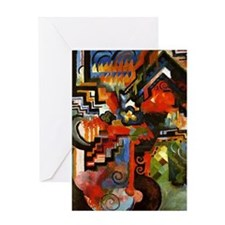 Macke - Colored Composition Greeting Card