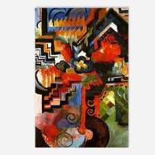 Macke - Colored Compositi Postcards (Package of 8)
