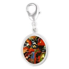Macke - Colored Composition Silver Oval Charm