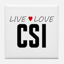 Live Love CSI Tile Coaster