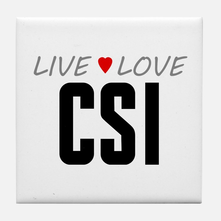 Live Love CSI Tile Coaster