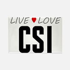 Live Love CSI Rectangle Magnet