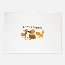 Let's Go Camping 5'x7'Area Rug