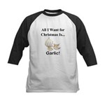 Christmas Garlic Kids Baseball Jersey
