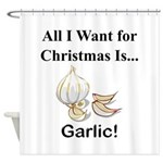 Christmas Garlic Shower Curtain