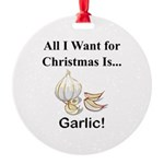 Christmas Garlic Round Ornament