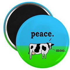 Peace Cow Moo Refrigerator Magnet