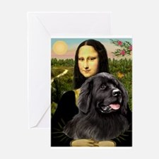 Mona & her Newfie Greeting Card