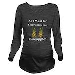 Christmas Pineapple Long Sleeve Maternity T-Shirt