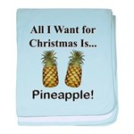 Christmas Pineapple baby blanket