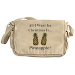 Christmas Pineapple Messenger Bag