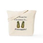 Christmas Pineapple Tote Bag