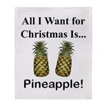 Christmas Pineapple Throw Blanket