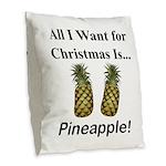 Christmas Pineapple Burlap Throw Pillow